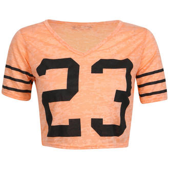 View Item Orange Cropped Number Print Tee